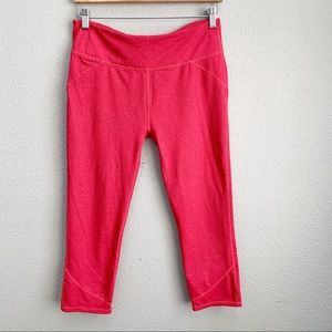 Fabletics red cropped yoga pants